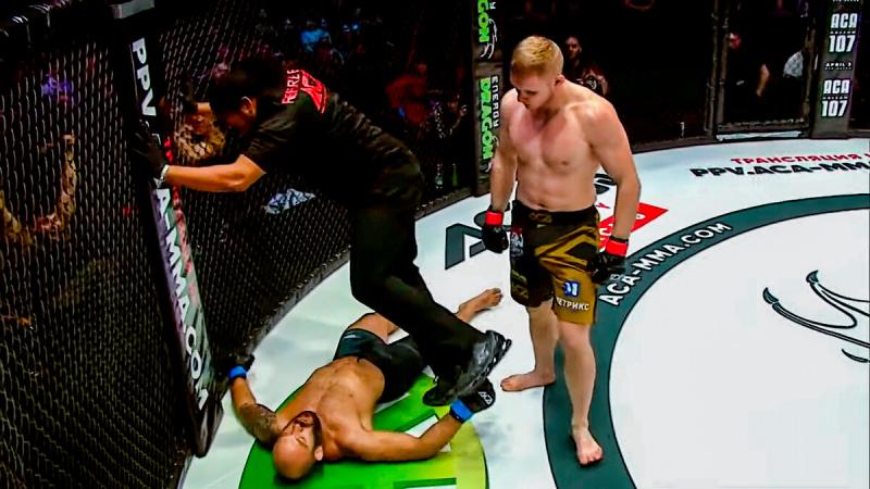 Россиянин наглухо нокаутировал бойца UFC