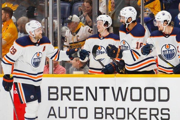 """""""Нэшвилл"""" -""""Эдмонтон"""", 3:3 после 2-ух периодов, и 0:5 -в третьем! Драйзайтль - первый """"покер"""" в карьере НХЛ! Немец топит за всё."""