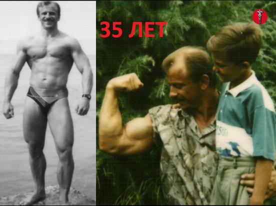 61-летний натуральный культурист. Его форма в 35-40 лет и отношение к стероидным качкам