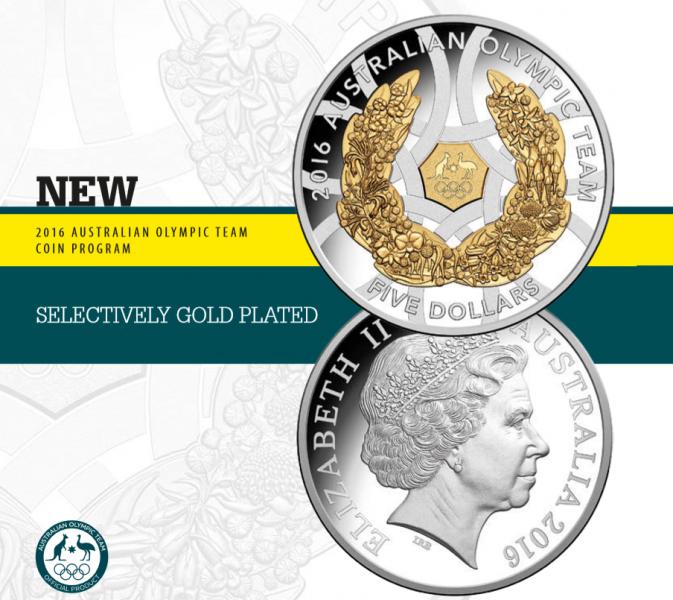 Монеты Австралии к Олимпийским играм в Рио 2016