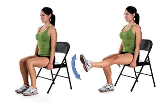 Коленный сустав. Щадящие упражнения на каждый день.