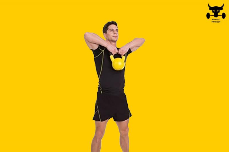 Массивные плечи с помощью 16кг гири за 21 день (20 минутная тренировка)