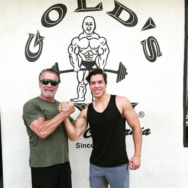 Сын Арнольда планирует выступить на соревнованиях по бодибилдингу
