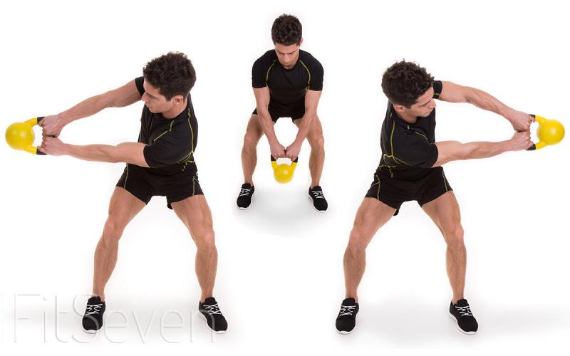 Упражнения с гирей — названия с описаниями