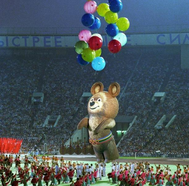 Куда делся олимпийский мишка, символ Олимпиады 80