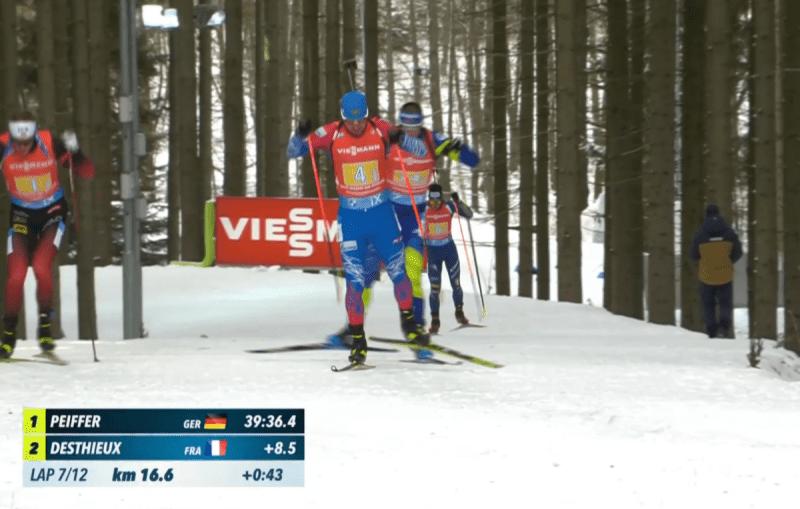 Жаклен и Бё своими промахами подарили России медаль эстафеты в Нове-Место