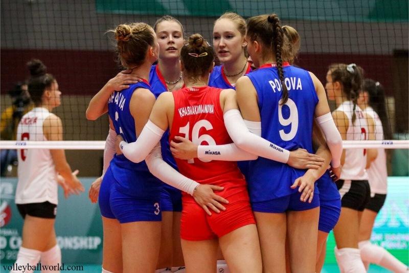 Волейбол. ЧМ U18. Победа над Болгарией